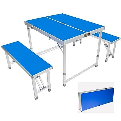 Amazon.com : AceLife Folding Table Portable Aluminum Indoor Outdoor ...