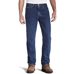9c9c9401 Wrangler Men's Regular Fit Jeans, Dark Denim, 29W x 30L at Amazon ...