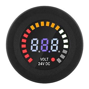 Auto Dc 24v Voltmeter Universal Digital Led Panel Voltmeter Spannungsanzeige Voltmeter Für Auto Motorrad Atv Mit 15cm Linie Gewerbe Industrie Wissenschaft