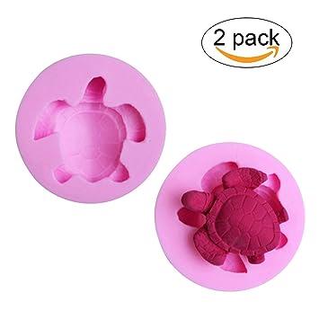 Amazoncom 2 Pack Sea Turtle Shaped Silicone Candy Fondant
