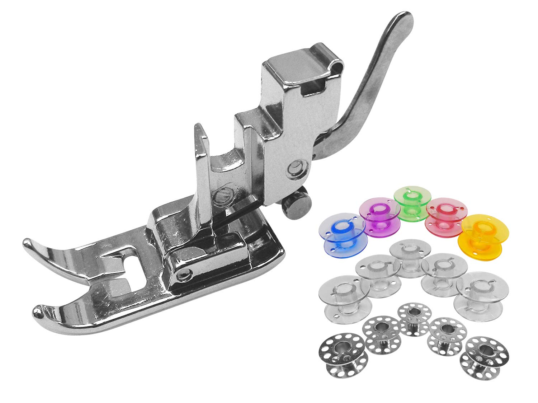 15 bobines en m/étal color/é pour Machine /à Coudre Silvercrest Zick Zack Pied Standard Support /à Coudre