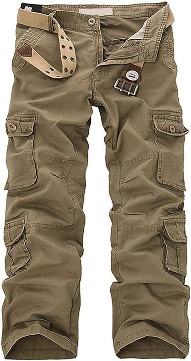 Allthemen Pantalones De Carga Casual Retro Para Hombre Combates De Trabajo Ropa De Trabajo Suelta Pantalones Negros Para Caminatas Al Aire Libre Pantalones Casuales Amazon Es Ropa Y Accesorios