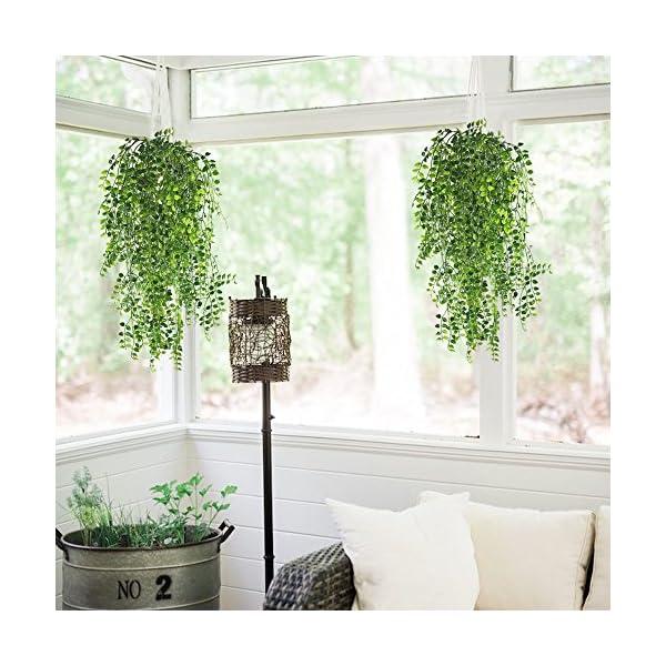 HOGADO-2pcs-Artificial-Ivy-Fake-Hanging-Vine-Plants-Decor-Plastic-Greenery-for-Home-Wall-Indoor-Outdside-Hanging-Basket