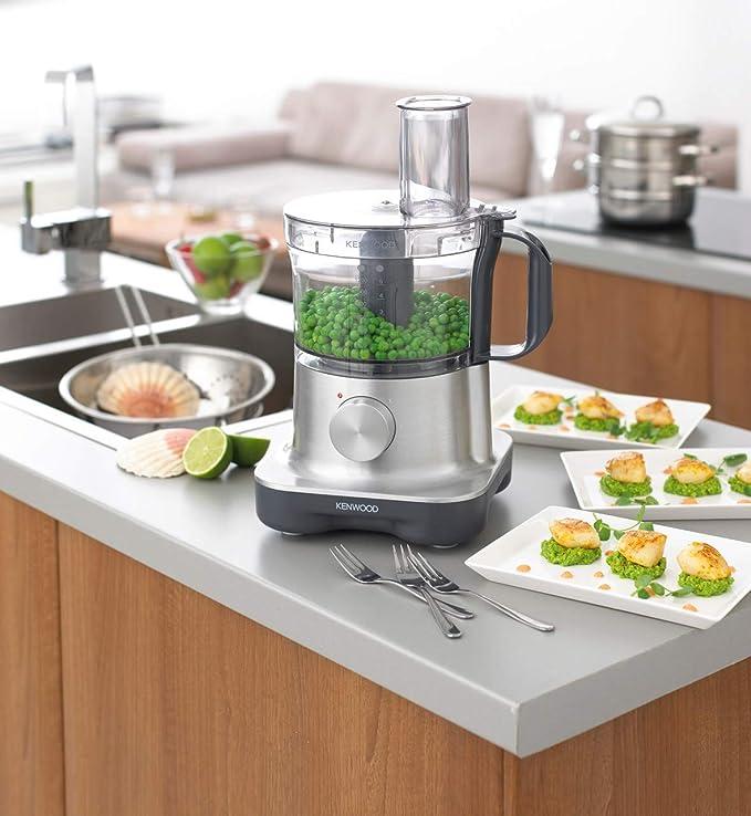 Kenwood FPM 250- Procesador de alimentos de aluminio 750W: Amazon ...