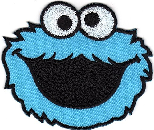 (Cookie Monster Elmo Sesame Street Monster Cartoon Logo Kid Baby Boy Jacket T shirt Patch Sew Iron on Embroidered Symbol Badge Cloth Sign Costume By Prinya Shop)