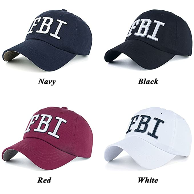 Amazon.com  FBI Hat Women Baseball Hats Gorras Trucker Cap Embroidered FBI  for Men Navy Blue  Clothing 797d2644fddb