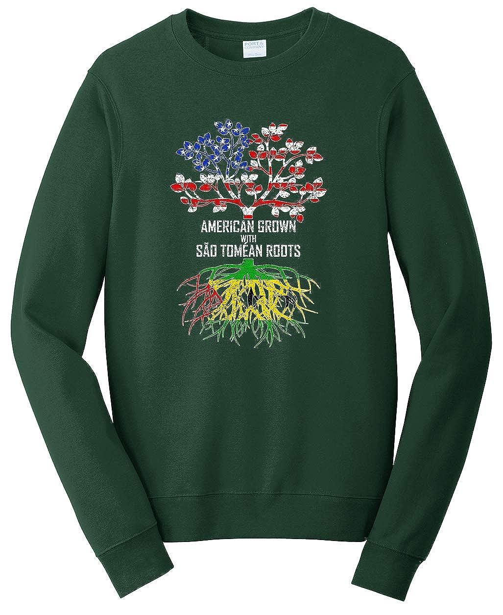 Tenacitee Unisex American Grown with S/ão Tom/éan Roots Sweatshirt