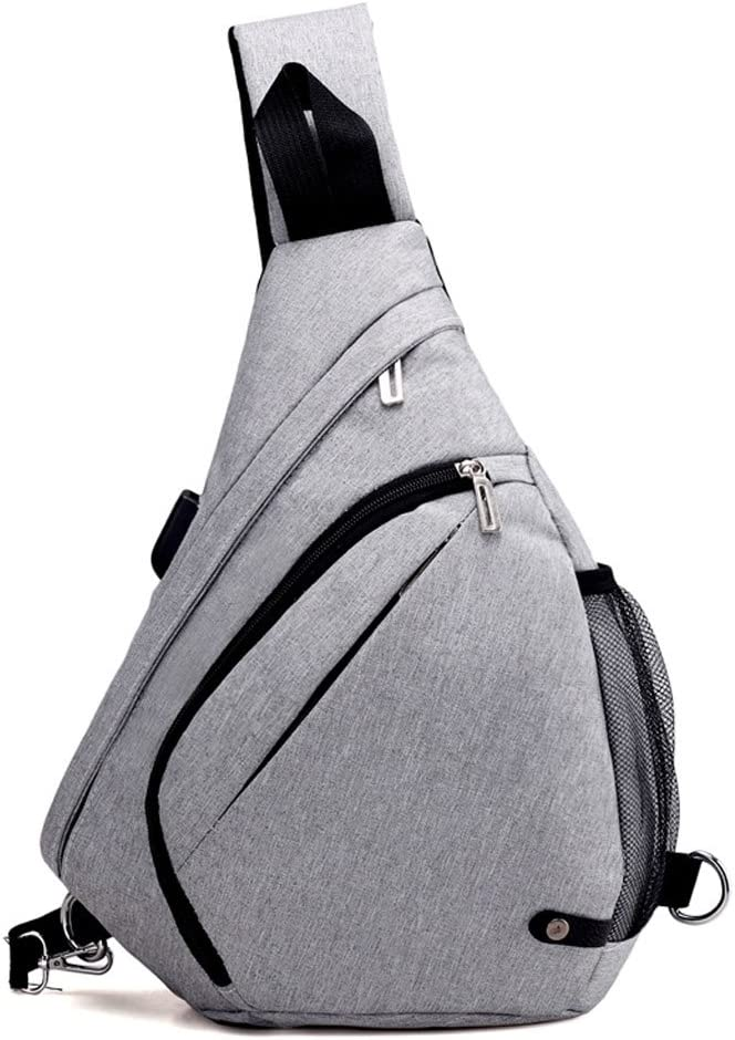 ZOUQILAI Outdoor large space sports leisure Oxford drop chest bag Sports multifunction Messenger bag four color selection
