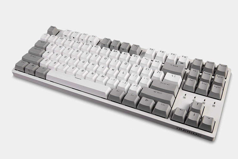 Cherry Black, White NKRO Double Shot PBT 87 Keys USB Type C Durgod Taurus K320 TKL Mechanical Gaming Keyboard