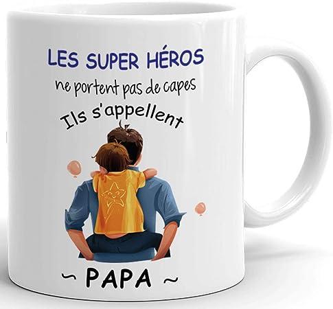 Idée Cadeau Anniversaire Papa Tasse Mug Papa Héro   Idée Cadeau Naissance Papa Original Fête des