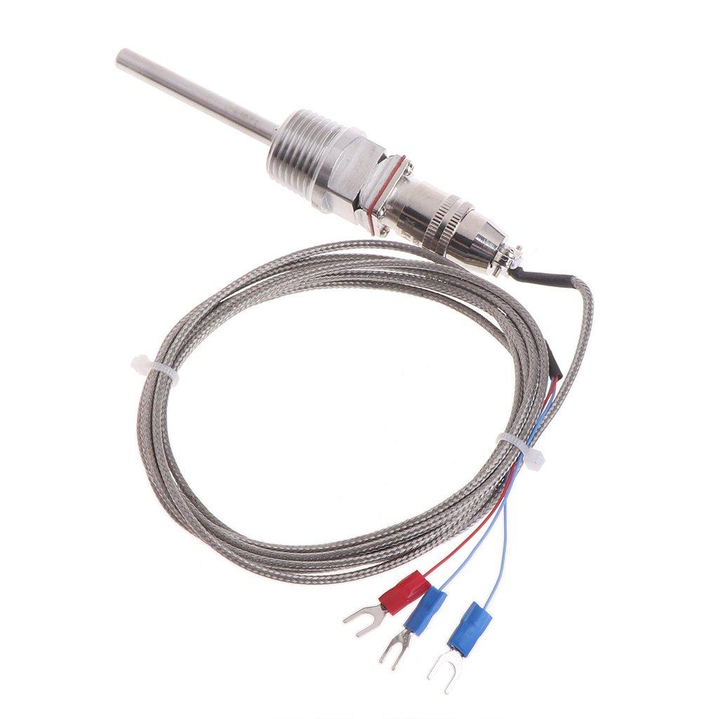 Sonda con sensor de temperatura JENOR RTD Pt100 5 cm, rosca NPT de 1//2
