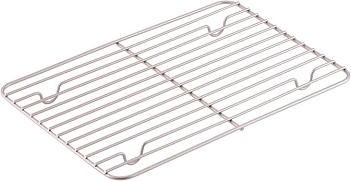 CHEFMADE Baking and Cooling Rack, 12-Inch Non-Stick Rectangle Wire Rack for Oven Baking (Champagne Gold)