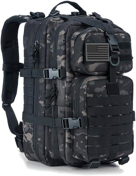 35L MOLLE Rucksack Backpack Outdoor Hiking Bag Pack Packsack Black