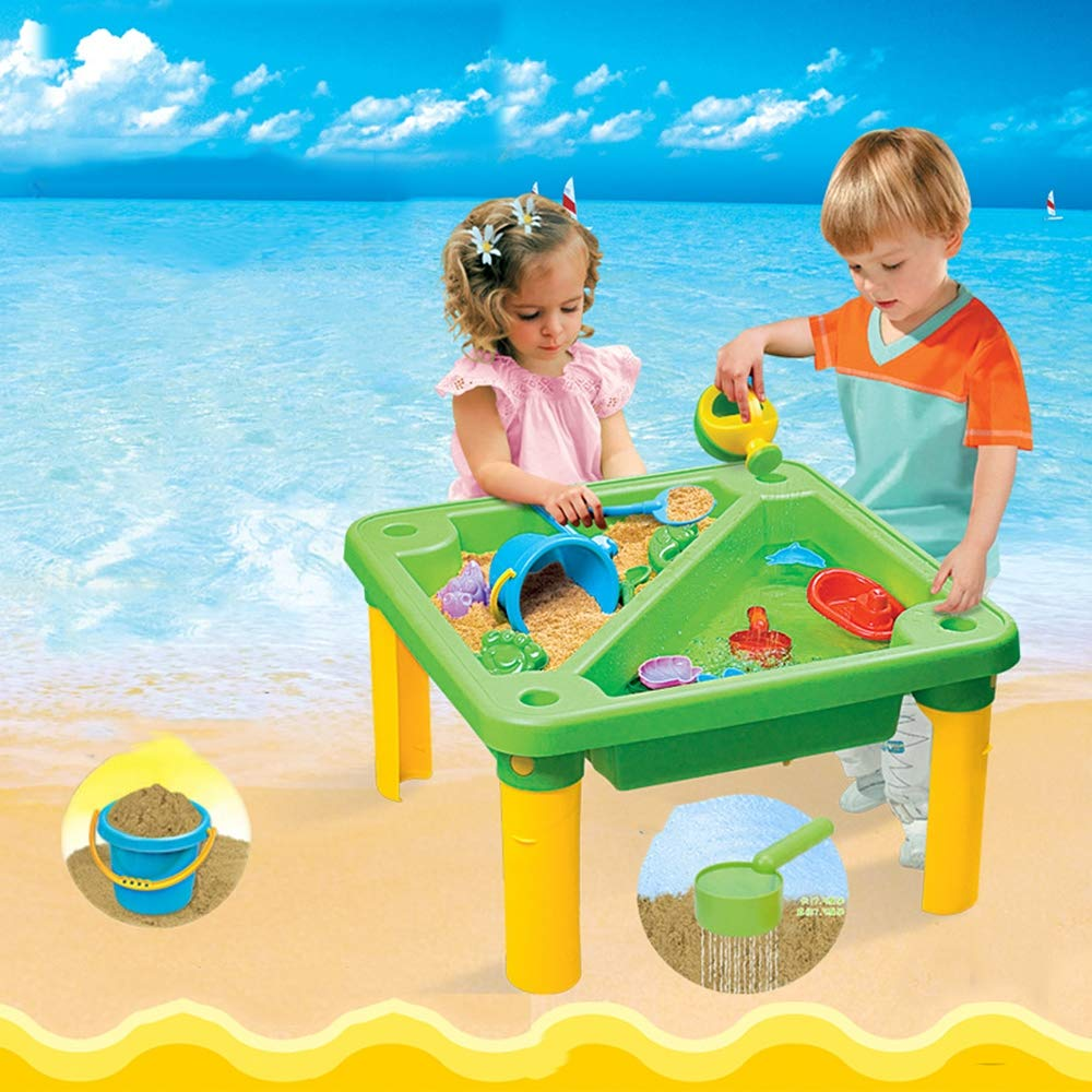 Children's Toy Sand Water Table Set, Beach Table Multiplayer Summer Play Water Kids Amusement Park Toys Seaside Play Holiday Travel