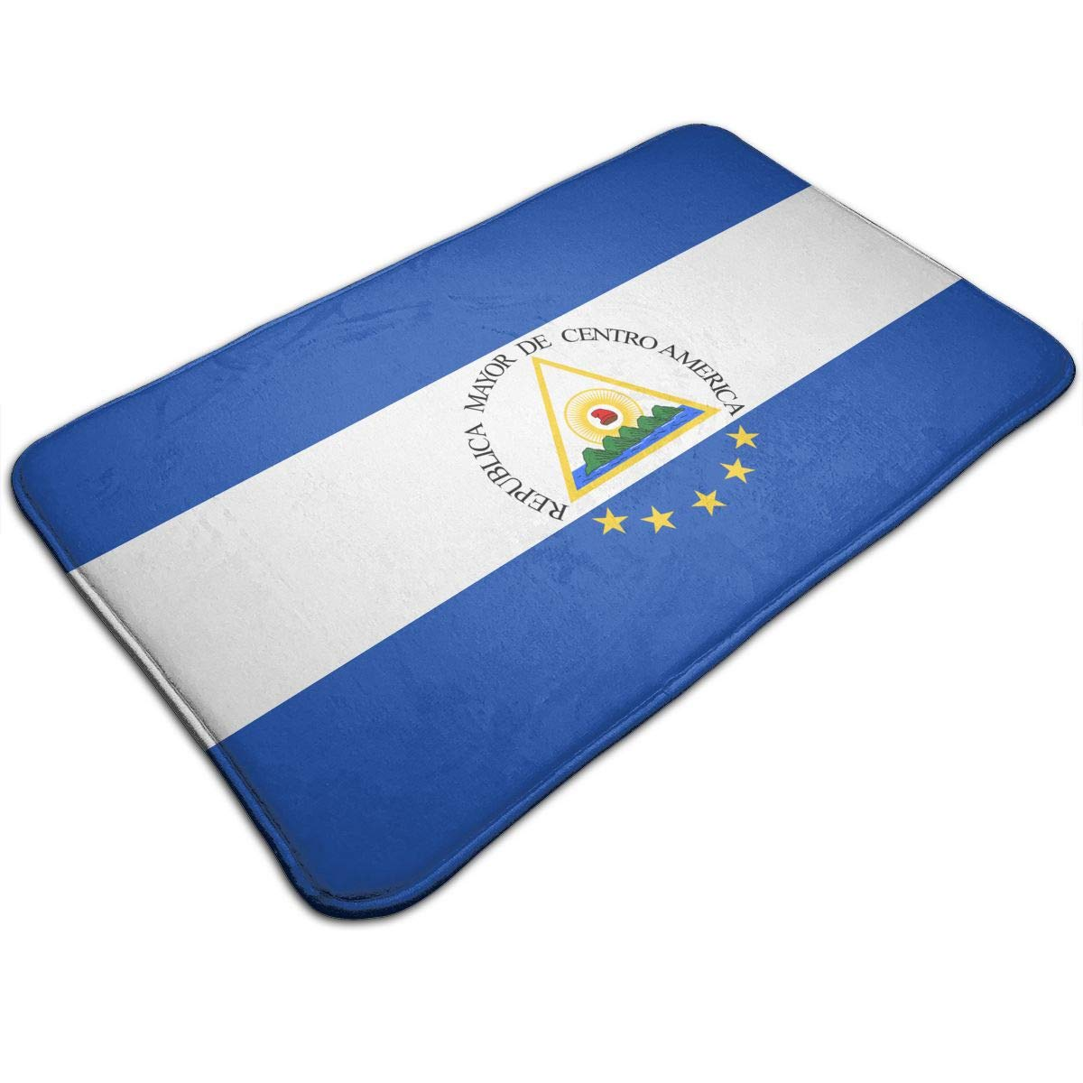 Yu Ang Yang Contour Rug/Interior and Exterior Shaggy Flag of The Greater Republic of Central America Mat