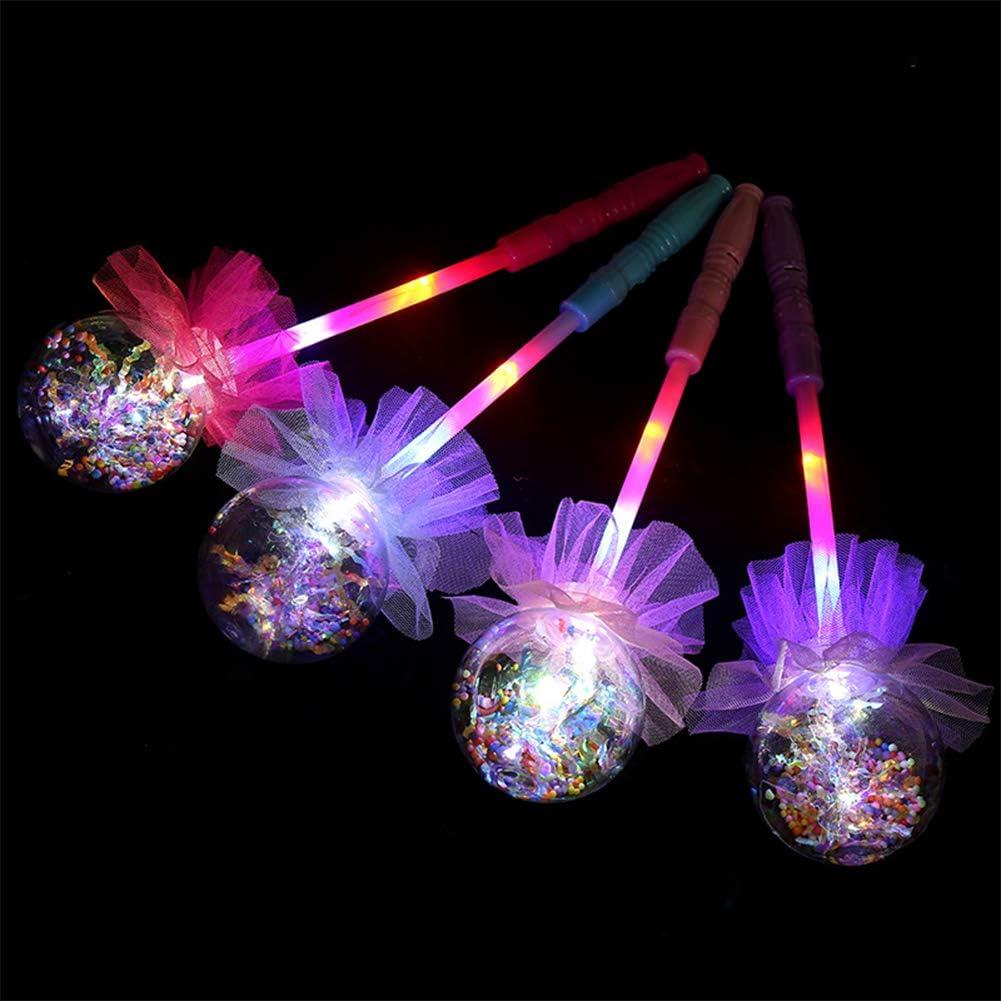 zuf/ällige Farbe FairOnly Kinder leuchtenden Zauberstab Flash-Spielzeug f/ür Halloween Fairy Wand
