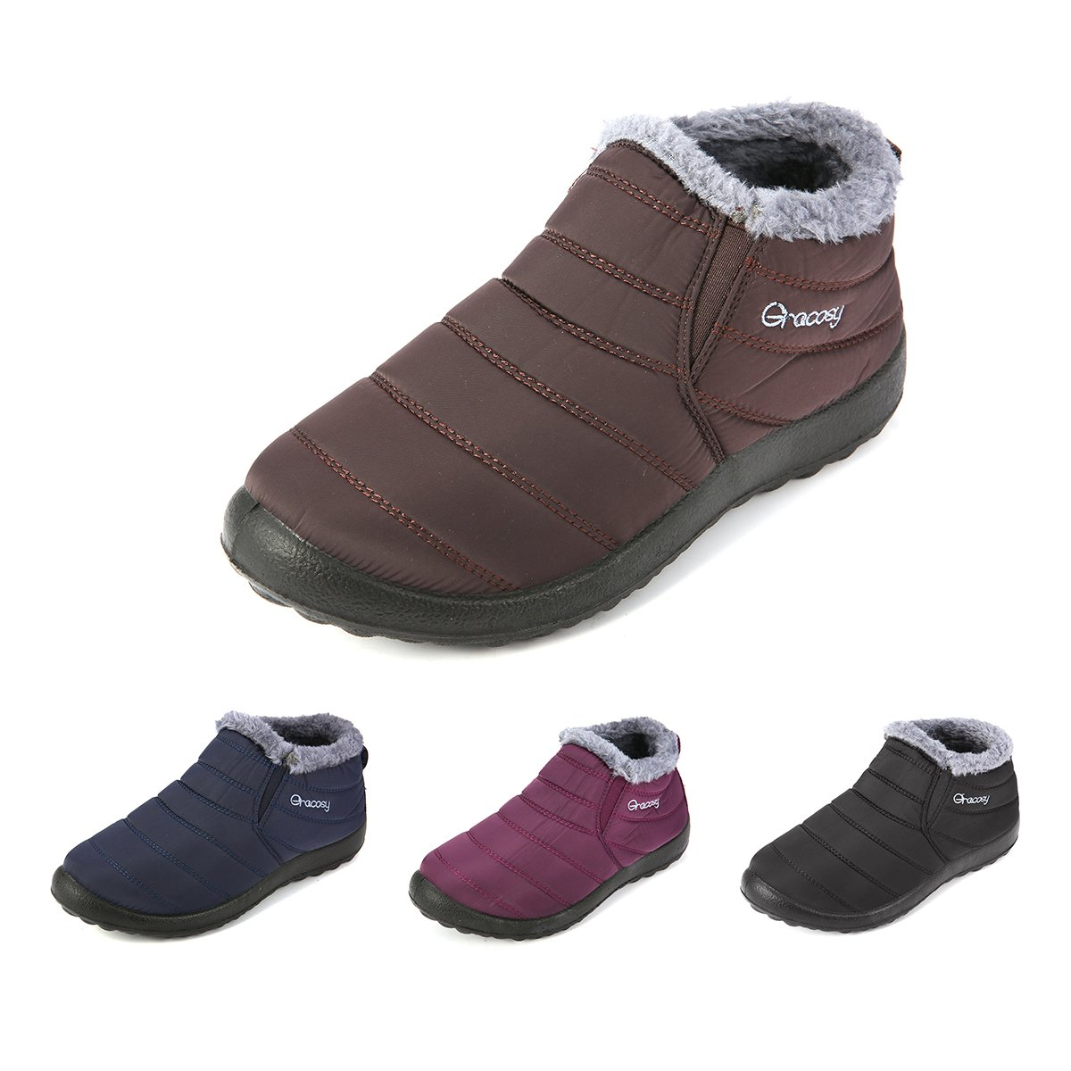 841da793190a5b Amazon.com  gracosy Warm Snow Boots