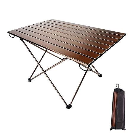 SVNA Mesas Laterales portátiles para Acampar con Mesa de Aluminio ...