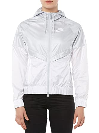 Nike W NSW WR Jkt Chaqueta, Mujer, Gris (Pure Platinum White ...