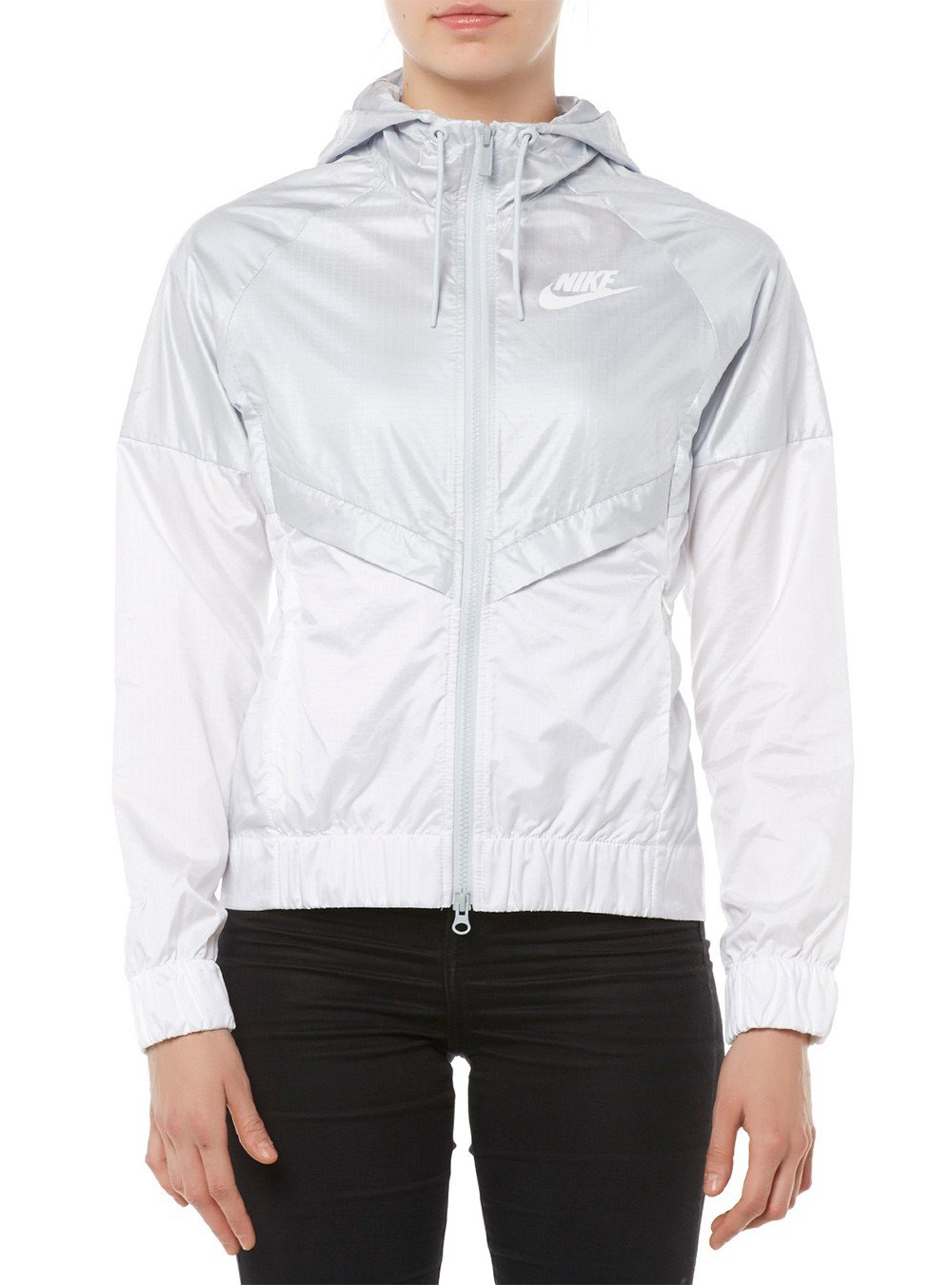 Nike Womens Windrunner Track Jacket Pure Platinum/White 804947-011 Size Large