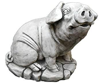 Large Heavy Stone Pig Garden Statues Ornaments Free UK Mainland Delivery