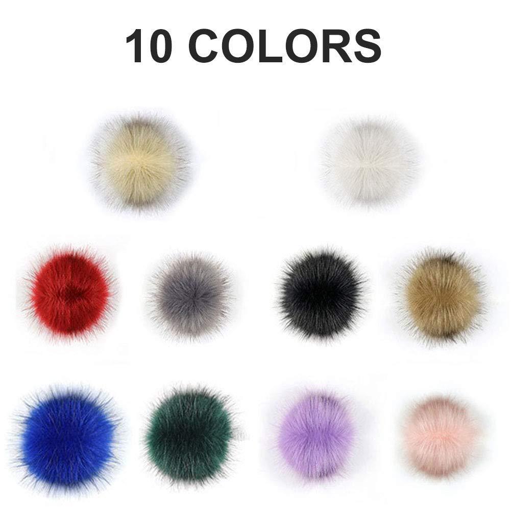 Amazon.com: 20 pompones de piel de zorro sintético para ...