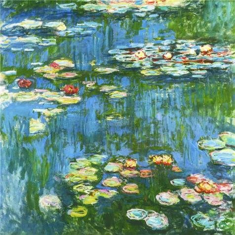 [High Quality Polyster Canvas ,the Beautiful Art Decorative Prints On Canvas Of Oil Painting 'Water Lilies, 1897-99 By Claude Monet', 16x16 Inch / 41x41 Cm Is Best For Bar Artwork And Home Gallery Art And] (Woman Lioness Costume)