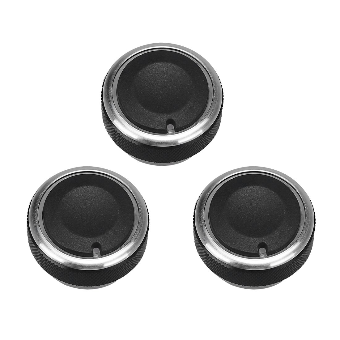 Air Conditioning knob Switch Control Button 3Pcs Black