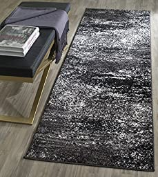 Safavieh Adirondack Collection ADR112A Silver and Black Modern Abstract Runner (2\'6\