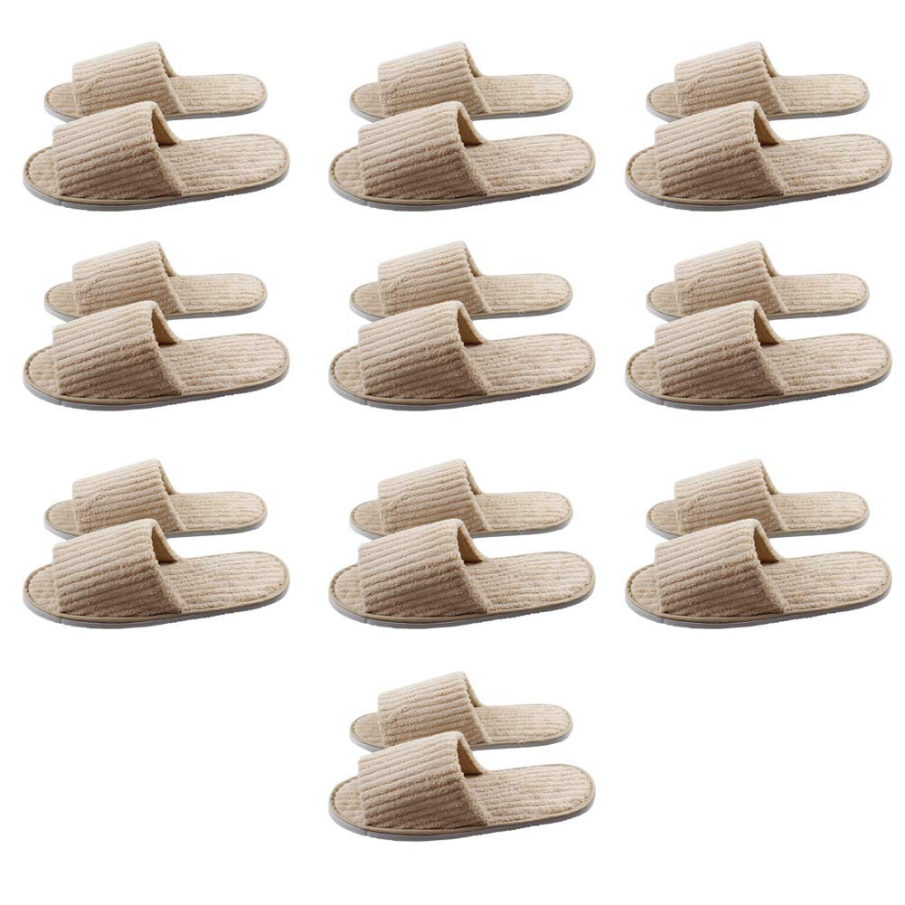 Fitlyiee 10 Pairs Soft Comfortable Coral Fleece Unisex Slippers Guests Slipper for Home Salon Spa (Style 1) by Fitlyiee