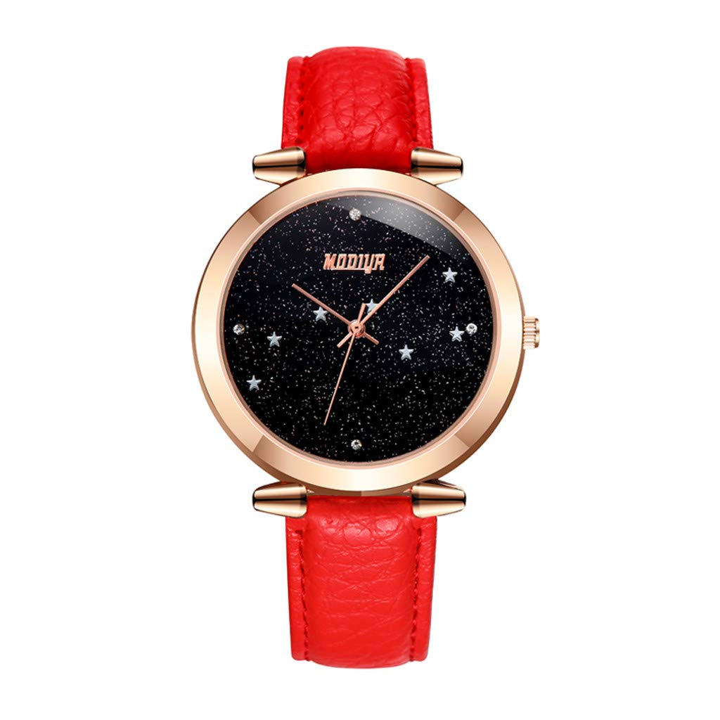 Amazon.com: Pengy Woman Watch Precision Scale Dial Casual Watch Minimalist Wrist Watch Lady Analog Mature Brown: Watches