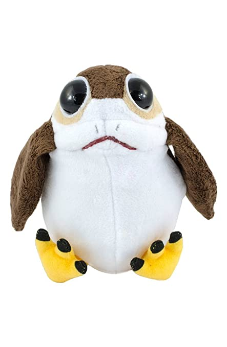 b85f62be4c9 Amazon.com  Star Wars Last Jedi Talking Porg 7inch Plush Toy  Toys   Games