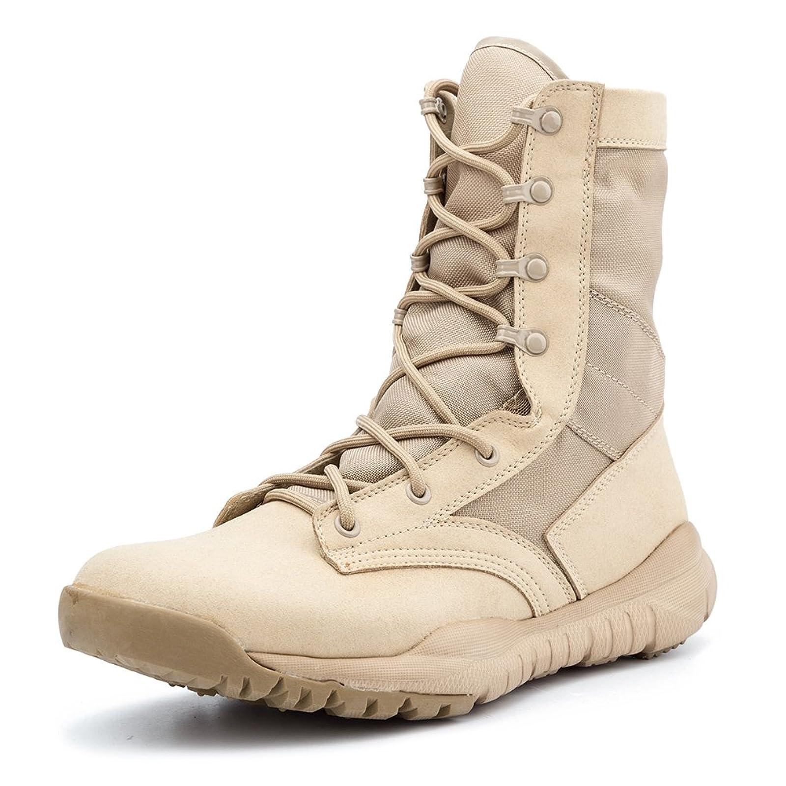 IODSON US Mens' Ultra-Light Combat Boots Beige 9.5 M US - 7