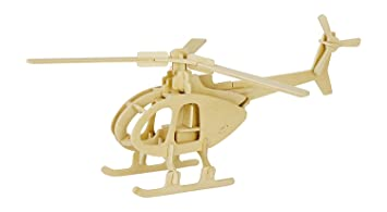 Amazon 3d wooden puzzle helicopter model creative puzzle model 3d wooden puzzle helicopter model creative puzzle model kits diy toys 32 piece build car solutioingenieria Images
