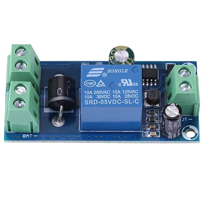 Hilitand 5V~48V Power Supply Controller 10A DC Power Supply/Battery Automatic Switch Module Emergency Controller