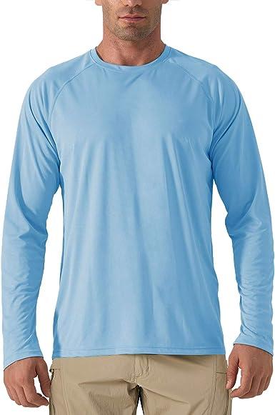 KEFITEVD Camiseta de Manga Larga UPF 50+ para Hombre Camisas de Protección UV Tops de Protección Solar al Aire Libre: Amazon.es: Ropa y accesorios