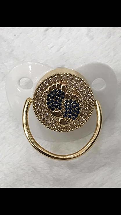 Baby Chupete Luxus Premium purpurina adornado con cristales de ...