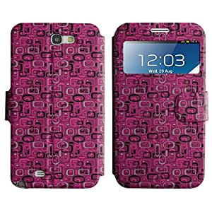 LEOCASE forma linda Funda Carcasa Cuero Tapa Case Para Samsung Galaxy Note 2 N7100 No.1007176