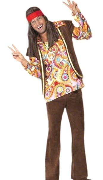 erdbeerloft – Costume karnevalskomplett da uomo anni  60 Woodstock Hippie 182388938cd