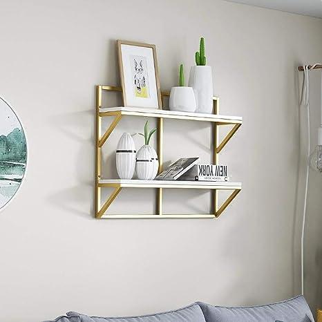 gsm@ Estante de Pared Doble Dormitorio Sala de Estar Creativo ...