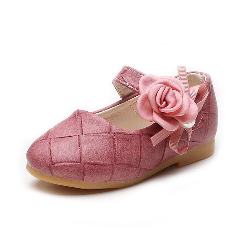 CYBLING Toddler Little Girls Mary Jane Side Flowers Ballet Flat Dress Princess Shoes