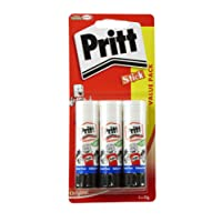 Pritt Stick Original Glue Stick - Multi Pack 3 x 22g - Childproof and washable for paper, cardboard and felt