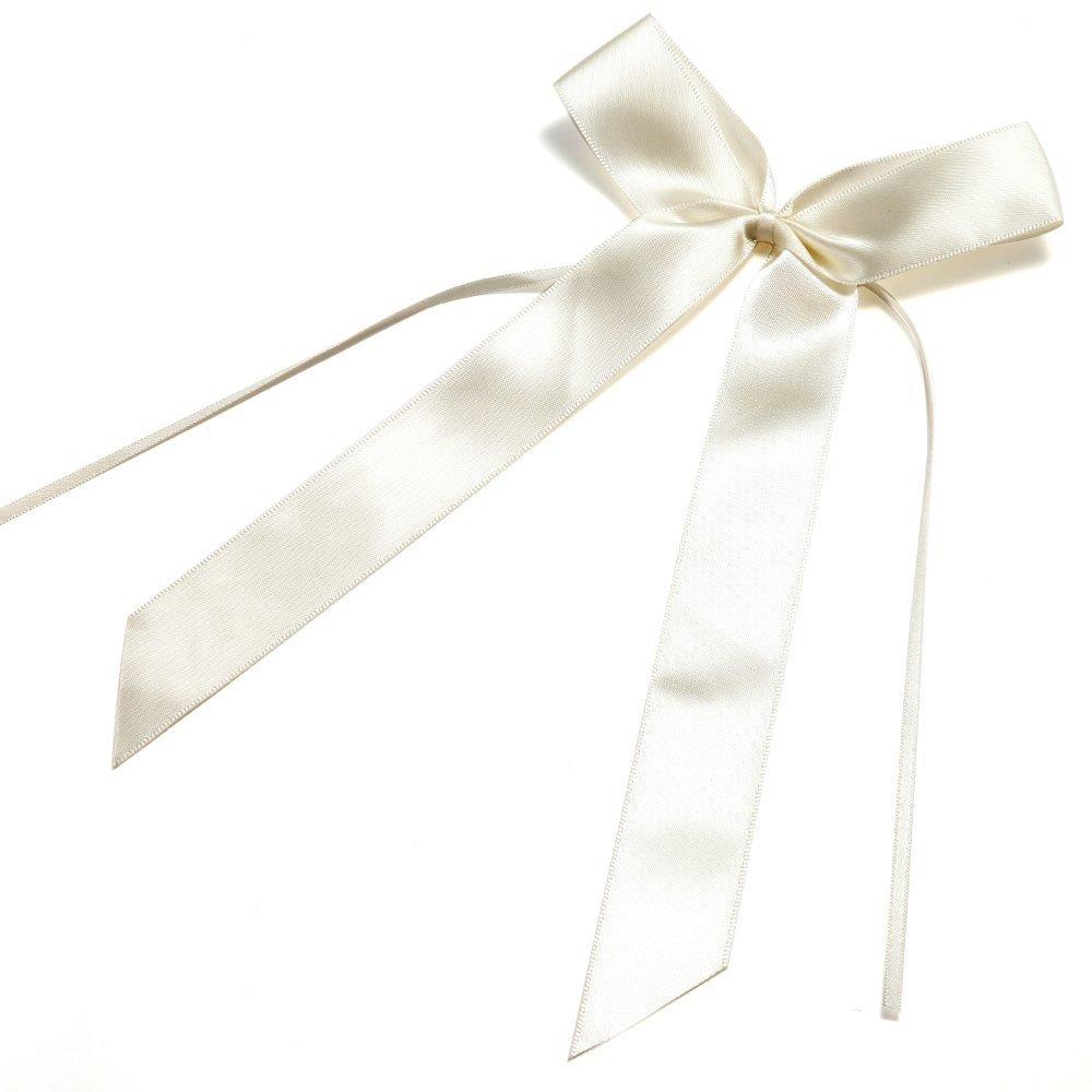 Mariages f/êtes c/él/ébrations Couleur Cr/ème by pour Voitures Durshani D/écorations de Mariage 25 Noeuds de Ruban Papillon Satin Embellissement
