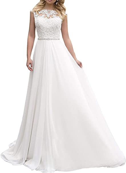 Amazon.com: Beiqian - Vestido de novia para mujer, diseño de ...