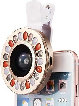 LED selfie flash Luz Lente lente de 4 archivos de intensidad ...