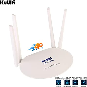 300Mbps Wireless WiFi Router 4G LTE Home CPE Dual Antenna Network SIM Card Slot