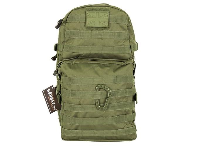 Funda táctica para Kombat fundas para accesorios de mochila de camuflaje del ejército británico SAS Bergen para el desierto Molle 40 litros L verde: ...