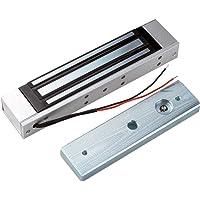 LIBO Cerradura magnética eléctrica 180KG/350lbs Control de acceso Cerradura electrónica de puerta de metal DC12V Fail…