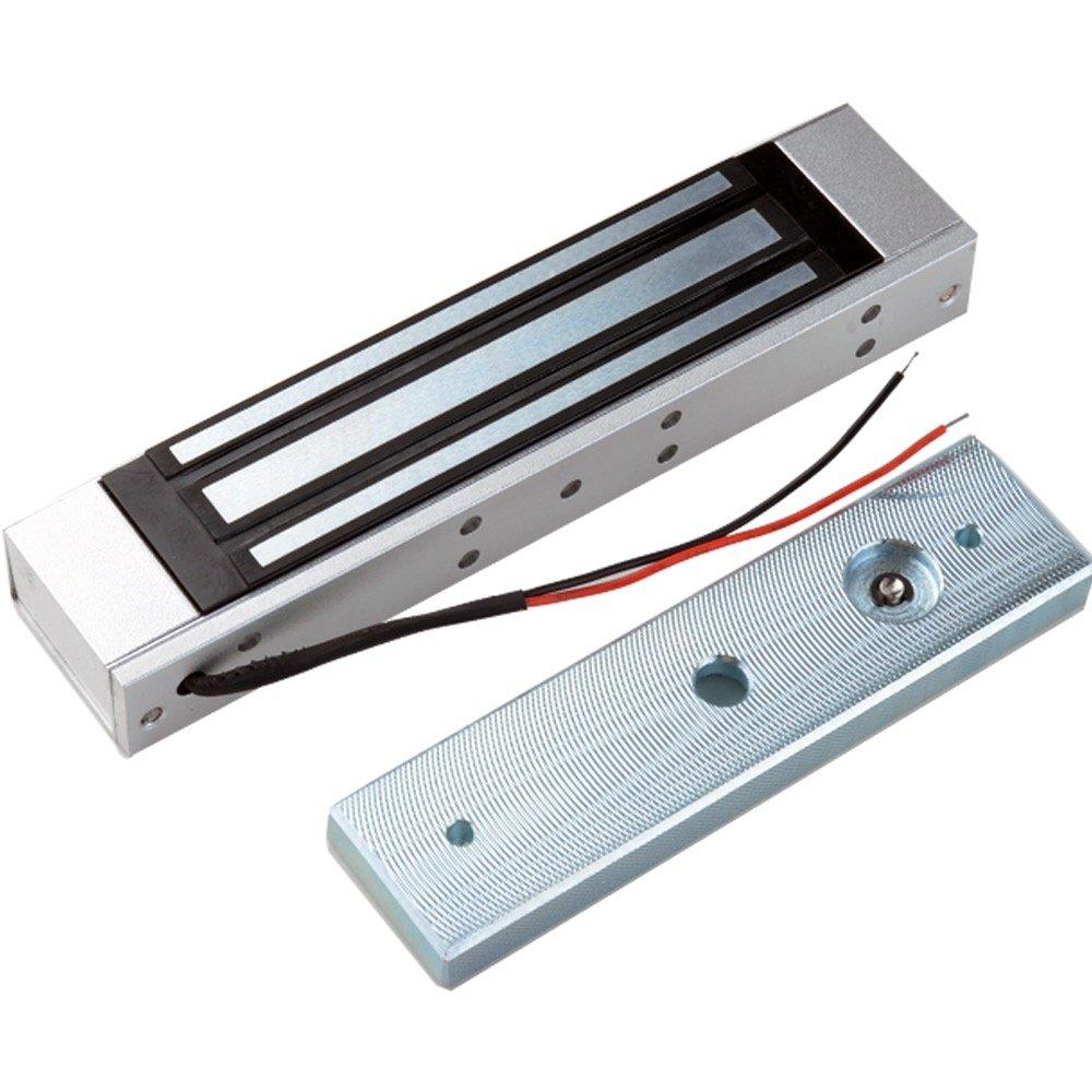 LIBO Cerradura magnética eléctrica 180KG/350lbs Control de acceso Cerradura electrónica de puerta de metal DC12V Fail Safe tipo NC para sistema de seguridad de una puerta (180kg/350lbs)