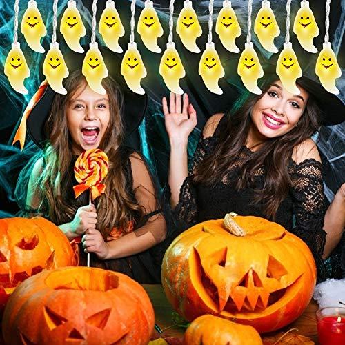 Gyrategirl Halloween String Lights, LED Pumpkin Ghost Lights, Holiday Lights for Outdoor Indoor Decoration, 2 Modes Steady/Flickering Lights(20 Lights, 9.8 feet) for Halloween Home Party Yard Decor